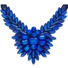 Crystal Motifs Necklace Wings Blue Aurora Borealis